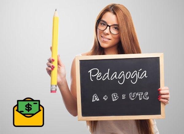¿Cuánto gana un licenciado en pedagogía en línea?