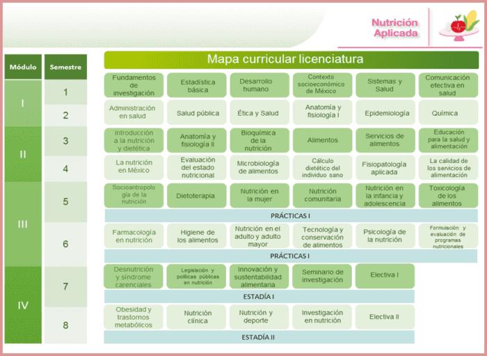 Plan de estudios nutrición en línea
