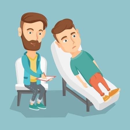 Psicólogo con paciente