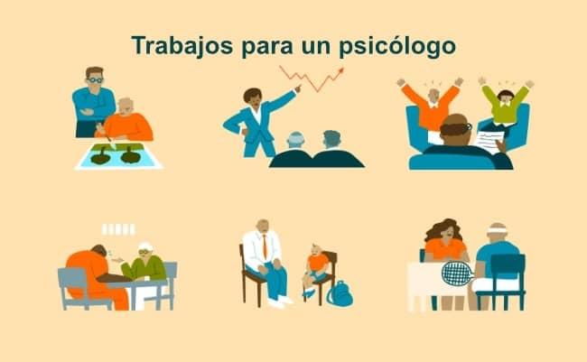 dónde trabaja un psicologo
