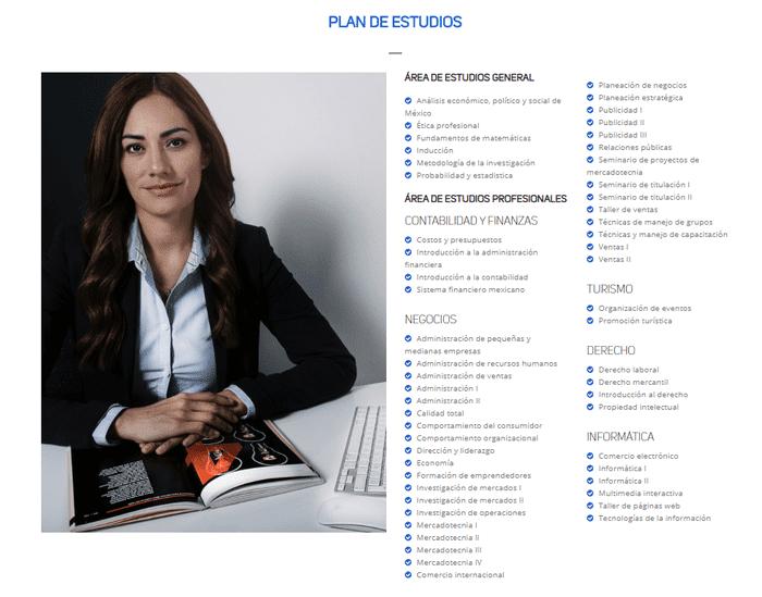 Plan de estudios de la licenciatura en mercadotecnia en línea